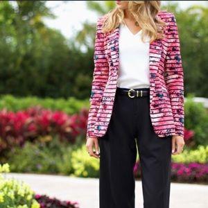 Banana Republic Pink floral blazer size 10